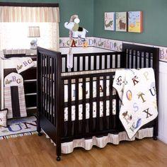 My First ABC 6 Piece Baby Crib Bedding Set by Kidsline Image - kli5205beds - Type 1