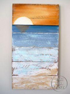 How to Paint Beach Art   Lake Girl Paints   Bloglovin'