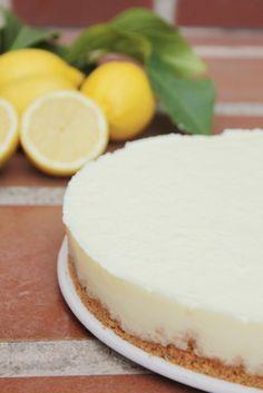 Tarta fría de limón sin horno.
