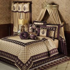 purple & gold bedding fleur de lis