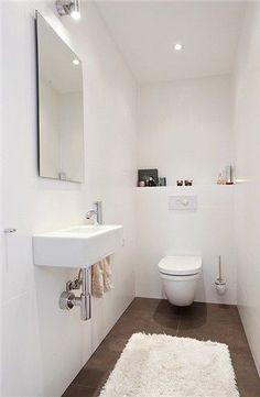 Minimalist Decor - My Minimalist Living Minimalist Bathroom, Minimalist Interior, Minimalist Living, Minimalist Decor, Guest Toilet, New Toilet, Dark Bathrooms, Bathroom Toilets, Villa Design