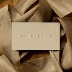 Natural, blind emboss, minimal aesthetic business cards and branding. Brand identity is a simple wordmark elegant and high fashion. Business Branding, Business Card Design, Logo Branding, Brand Identity, Branding Ideas, Embossed Business Cards, Elegant Business Cards, Letterpress Business Cards, Minimal Business Card