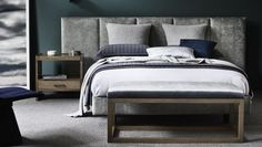 In response to the popularity of our wider Lincoln and Mirabelle designs we present our contemporary Oslo bedhead and fully upholstered bed option. Awesome Bedrooms, Beautiful Bedrooms, Oslo, Dream Bedroom, Master Bedroom, Luxury Bedding Sets, Upholstered Beds, Bedroom Styles, How To Make Bed