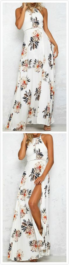 Just take this and enjoy your holiday! You're yearning to stand out from the crowd in this Backless Floral Printing Dress.AZBRO.comwill give you a gorgeous look!