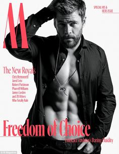 Abs-olutely fabulous! Thor star Chris Hemsworth shows off his rippling six-pack on the cover of W Magazine ¿ after revealing his muscles have ¿a mind of their own¿