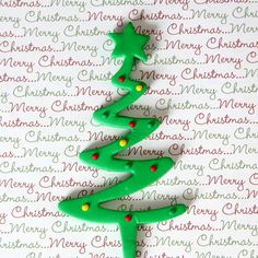 Readymade Fondant Christmas Tree Cake Topper with Dots - Green.  Just place it into your Holiday Cake & you're done!  | www.CaljavaOnline.com #caljava #christmascake