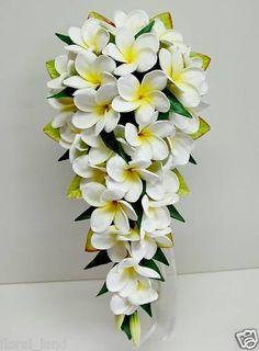 Frangipani bouquet @Mandy Dewey Seasons Bridal
