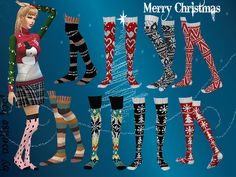 Christmas Pattern Socks Pack by melisa inci at TSR • Sims 4 Updates
