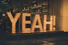 signage for the degree show? i think so. Marquee Letters, Marquee Lights, Big Letters, Lettering, Typography Design, Cola Light, Neon Lighting, Garage Lighting, Lighting Ideas