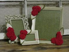 Decorative Picture Frames Embellished with by ThrownTogether, $41.00