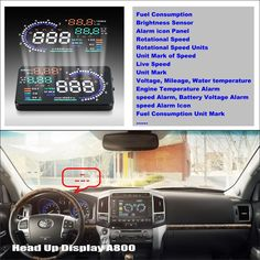65.00$  Buy here - http://aliy42.worldwells.pw/go.php?t=32753870117 - For Toyota Land Cruiser 70 100 200 V8 Roraima - Car HUD Head Up Display  - Safe Driving Screen Projector Refkecting Windshield