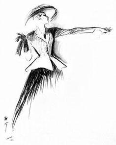 Christian Dior sketch, 1947