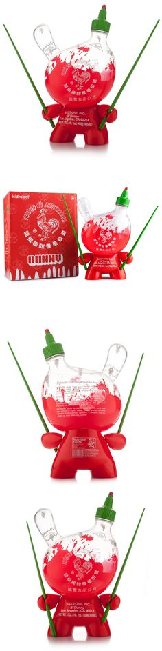 Designer and Urban Vinyl 158672: Sketracha 8 Dunny Vinyl Figure Empty Clear Ver, By Kidrobot X Sket One Sriracha -> BUY IT NOW ONLY: $59.95 on eBay!