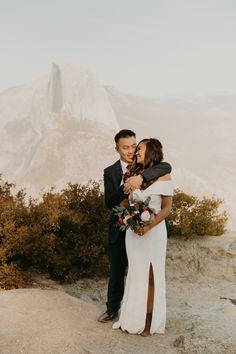 glacierpointelopement yosemitewedding yosemiteelopementphotographer yosemiteweddingphotographer #yosemiteelopement #yosemitewedding Elope Wedding, Wedding Ceremony, Wedding Dresses, Got Married, Getting Married, Glacier Point, Yosemite Wedding, Sunset Photos, Yosemite National Park