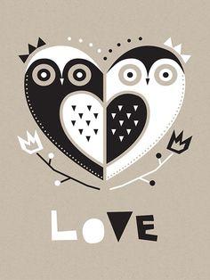 Geo Animals - Owl Love
