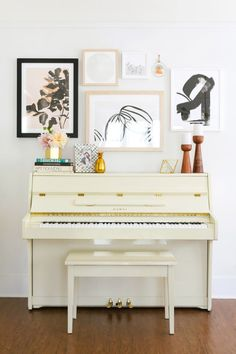 ivory lacquered piano