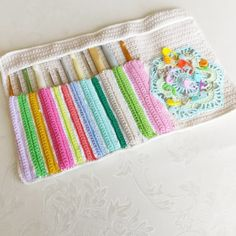 Crochet hook case by Rosalia.