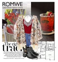 """""""Romwe 3/1"""" by dinna-mehic ❤ liked on Polyvore featuring women's clothing, women, female, woman, misses, juniors and romwe"""