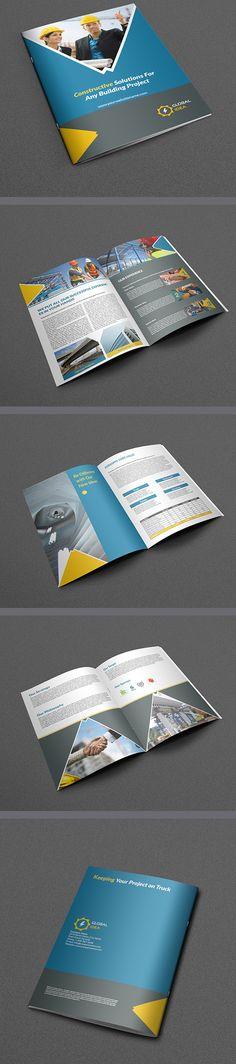 Construction Business Brochure Template  #brochuredesign #corporatebrochure #graphicdesign