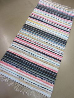 Rag Rugs, Manish, Recycled Fabric, Woven Rug, Scandinavian Style, Carpets, Pattern Design, Recycling, Outdoor Blanket