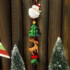 4d9aa3c01d Tema de Navidad adornos para automóviles buena decoración del hogar 29x6 CM  sentía material de bricolaje
