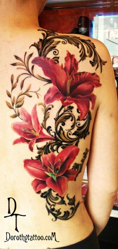 Tiger-lily tattoo! Pinning for the placement!