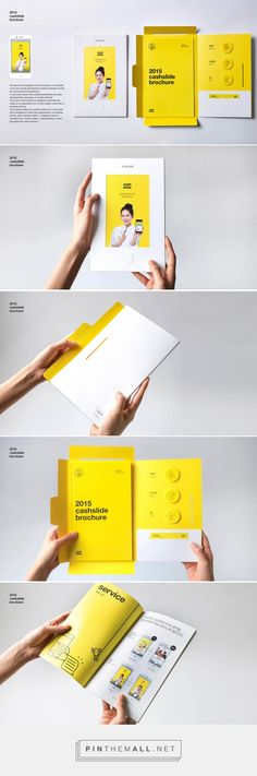 2015 cashslide brochure by bory kim - Graphic Templates Search Engine Design Brochure, Creative Brochure, Brochure Layout, Brochure Template, Brochure Ideas, Flyer Template, Web Design, Book Design, Layout Design