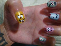Sponge Bob Nails    kayeotic.tumblr.com