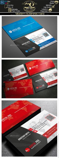 Modern Business Card Template Download Graphicriver Item
