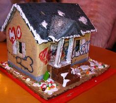 Gingerbread crack house