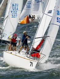 J24 sailboat racing - sailed it!