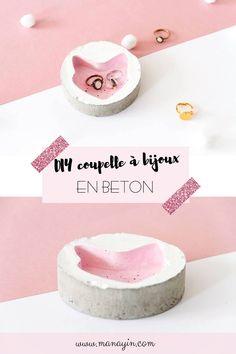 DIY coupelle à bijoux en béton, en forme de chat ! Diy Inspiration, Diy Décoration, Decoration, Diy And Crafts, Packaging, Place Card Holders, Creative, Concrete, Blogging