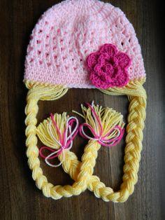 Rapunzel Braid Crochet Hat by LittleMsPlayroom on Etsy, $20.00