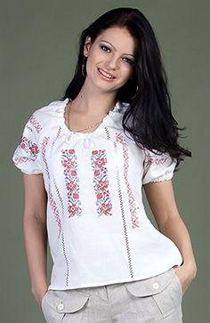 "Linen blouse ""Ukrainian"" - RusClothing.com- $59.99"