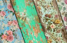 Grungy Galz: ::DIY - Vintage Wall Paper::cover old furniture with scrapbook paper, then antique