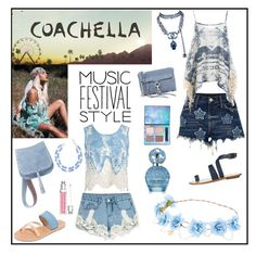 """""""festival music style"""" by ramos-jackie ❤ liked on Polyvore featuring River Island, Sans Souci, Ancient Greek Sandals, TIBI, Steve Madden, Rebecca Minkoff, Talbots, Chanel, Christian Dior and claire's"""