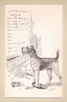 ATTENTION DOG / Diana Thorne / c. 1948