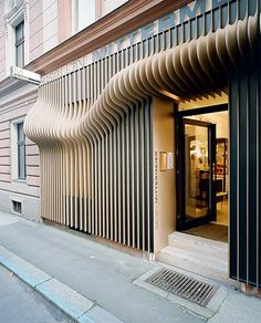 to create intriguing space... partial vision in/out... hairdresser by X Architekten
