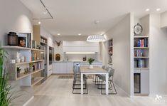 """החדשות המשמחות על התרחבות המשפחה הביאו את המשפחה הצעירה לצורך ממשי בשינוי דירתם והתאמה מחדש לצרכיהם החדשים. מאחר שיוקר הנדל""""ן לא אפשר להם להחליף את דירתם בגדולה יותר, החליטו לעצב מחדש את דירתם בלב גבעתיים. האתגר היה להתאים את שטח הדירה שגודלה כ- 105 מ""""ר למשפחה צעירה עם שני ילדים וילד שלישי בדרך. Design Projects, Table, Furniture, Home Decor, Decoration Home, Room Decor, Tables, Home Furnishings, Home Interior Design"""