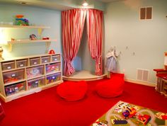 kid's stages that would go under the kids loft beds.