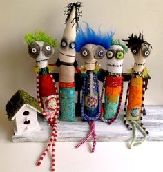 Anxiety Faeries, monster dolls, and goon by Snotnormal on Etsy Snotnormal: Poke around and pick something out!