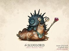 """""""The Sluglord"""", Monster of the Month for September See the high-res version, Animated process Gif and get the Photoshop brushes used in the making of this monster on my Patreon. I do new monsters each month! Dreamworks, Character Concept, Character Art, Cyberpunk, Beast Logo, Animation Process, Beast Creature, Dragon Rpg, Monster Design"""