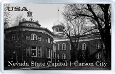 $3.29 - Acrylic Fridge Magnet: United States. Nevada State Capitol Building in Fall. Carson City