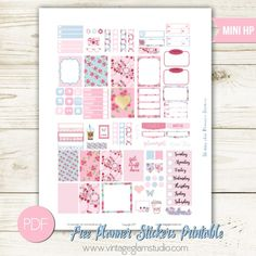 Shabby Chic Planner Stickers | Free printable for the Mini Happy Planner, for personal use only
