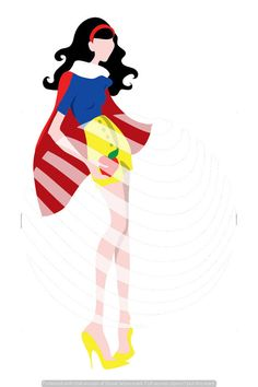 Clip Art Disney Princess Snow White Inspired Fashion File by TemplateParadise