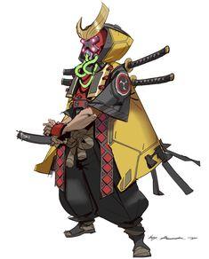 ArtStation - Samurai?, Rock D Character Design Animation, Fantasy Character Design, Character Creation, Character Design References, Character Drawing, Character Design Inspiration, Character Illustration, Game Character, Character Concept
