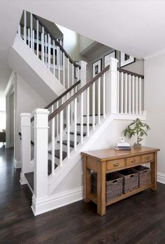 35 Inspiring Farmhouse Staircase Ideas for You Stairs Makeover FARMHOUSE ideas I. 35 Inspiring Farmhouse Staircase Ideas for You Stairs Makeover FARMHOUSE ideas Inspiring Staircase makeover farmhouse Interior Stair Railing, Staircase Railings, Staircase Design, Staircase Ideas, Banisters, White Staircase, Painted Staircases, Rustic Staircase, Stair Case Railing Ideas