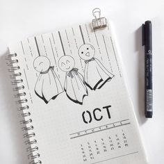 "50 Synes godt om, 2 kommentarer – Seratan 'Bullet Journal' Kulo (@seratan.kulo) på Instagram: ""The only page in the entire october setup that I put a little effort to decorate . . Those teru…"""