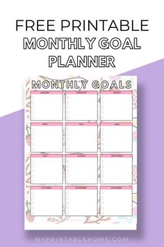 This Monthly Goal Planner will be a great addition to helping you as you plan your goals, your to-do's and your tasks. Monthly Planner | Goal Planner | Printable Planner | Goal Tracker | Printables | Printable Organization Monthly Goal, Monthly Planner, Printable Planner, Free Printables, Printable Organization, Home Organisation, Goals Planner, Big Picture, To Focus