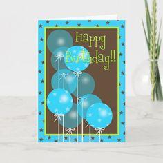 Shop Happy Birthday Balloon Wishes! Card created by ycatslee. Happy Birthday Kiss, Happy Birthday Best Friend, Best Birthday Wishes, Birthday Wishes Cards, Happy Birthday Balloons, Happy Birthday Images, Happy Birthday Greetings, Funny Birthday Cards, Birthday Greeting Cards